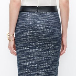 Like new- pencil skirt!  Leather detail.